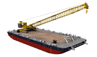 Very high stability and equipped with a wooden deck, four-point mooring and a ballast system.