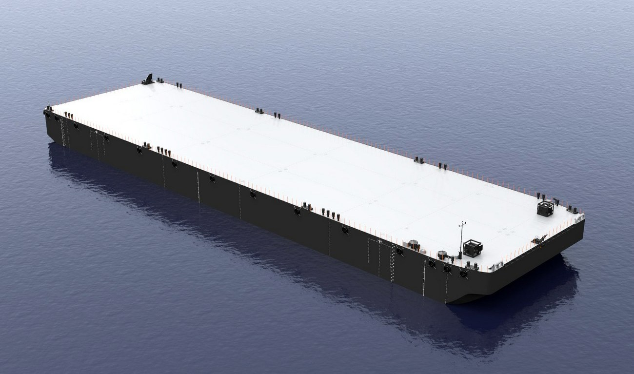 121 M Long And 36 M Wide Large Cargo Pontoon In Stock