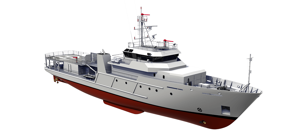Fishery Research Vessel 6210 perspective front SB