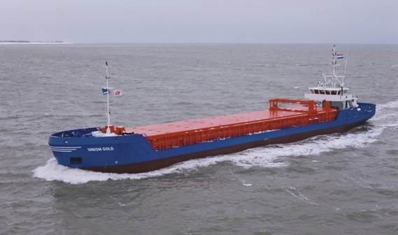 his vessel is a further development of similar vessels built by Damen for inland and seagoing transportation