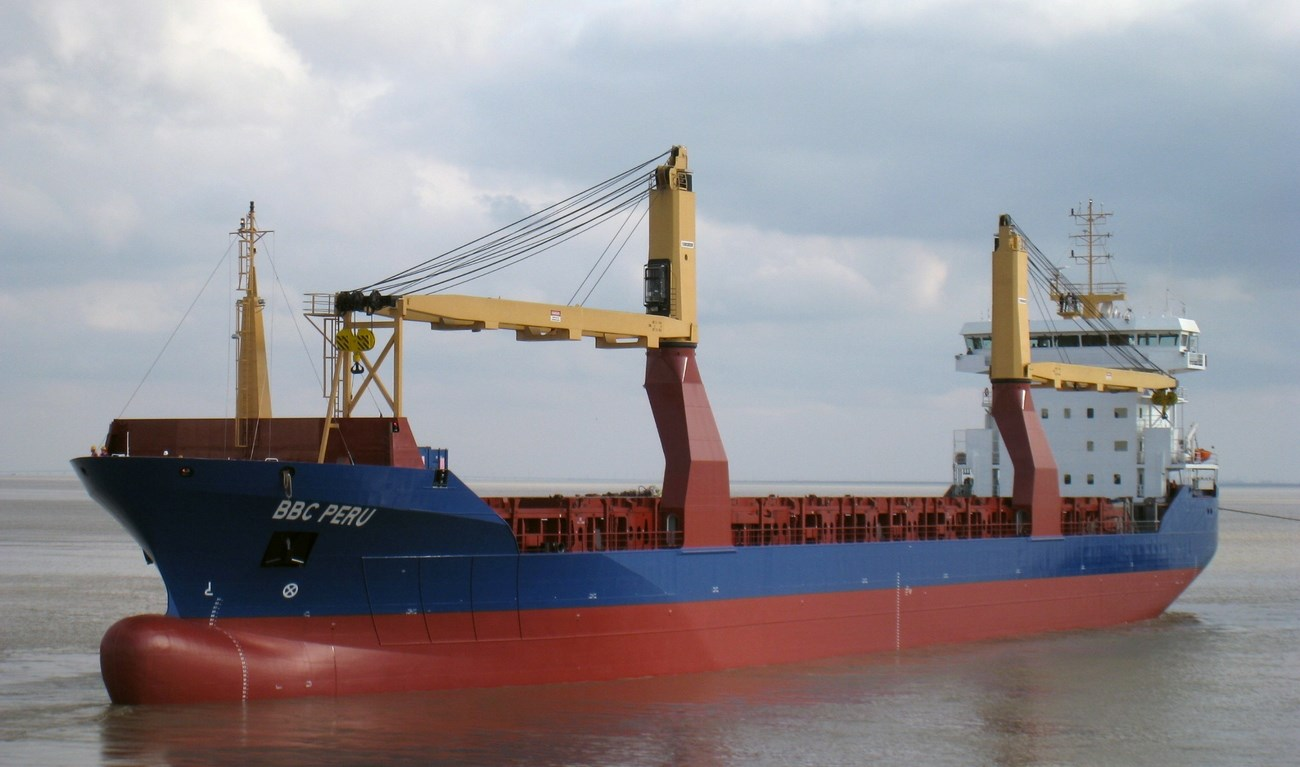 On December 7, 2012, the documents were signed for the handing over of the Damen Combi Freighter 13500, MV 'BBC Peru', the second vessel of this type