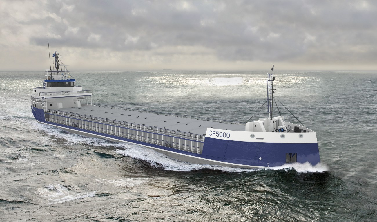Combi Freighter 5000 is a fuel-efficient seagoing cargo vessel