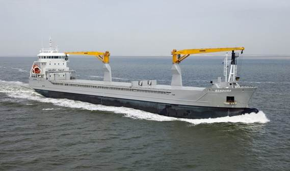 'Bandura' left the Damen shipyard in Harlingen in December 2010 for a cargo of steel products in Sweden,