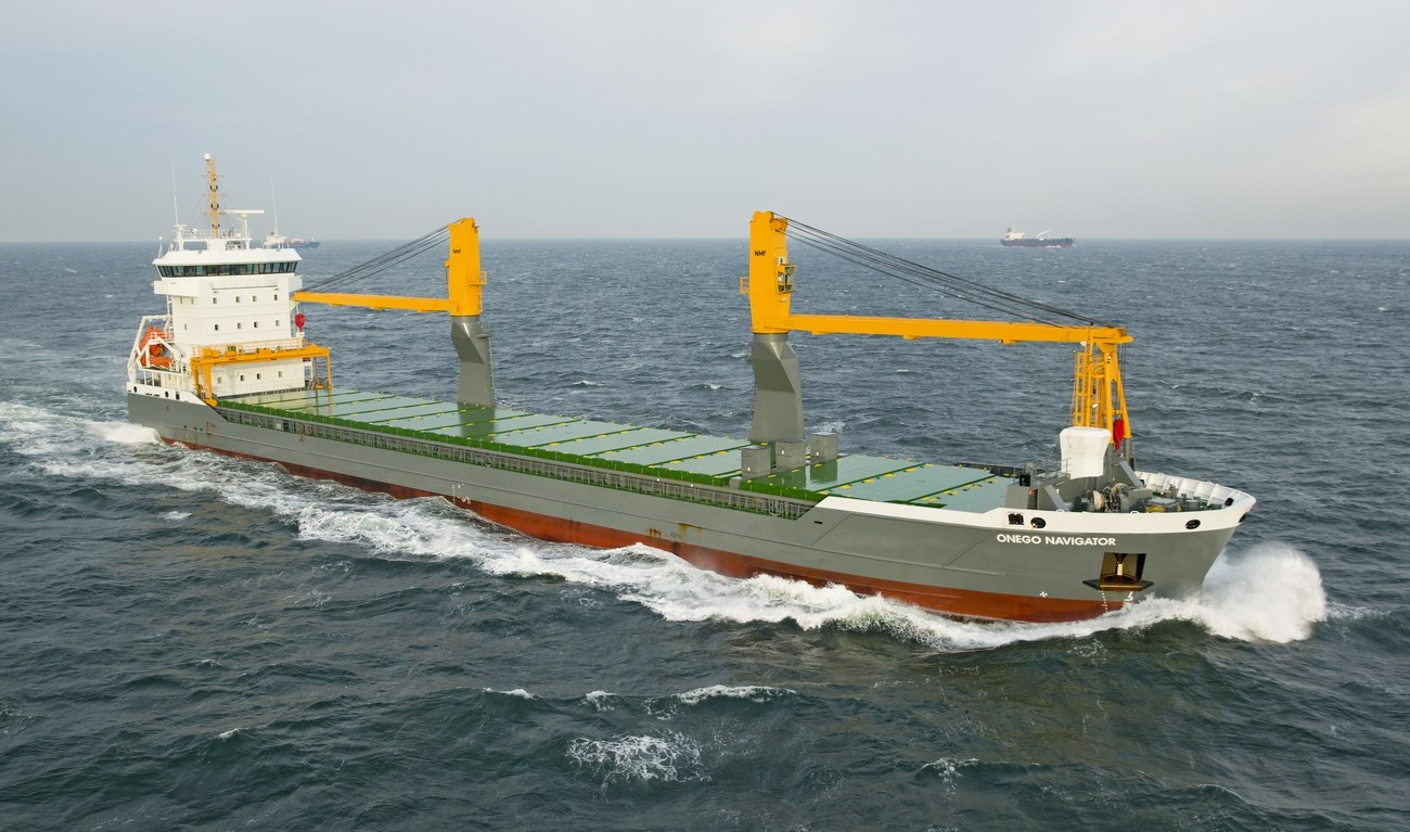 under the charter name of 'onego navigator' the vessel was