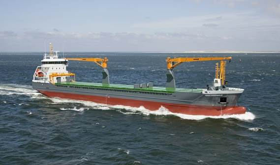 The 'Onego Arkhangelsk' (given name 'Timber Navigator') was delivered to her manager Forestwave Navigation of the Netherlands in July 2011