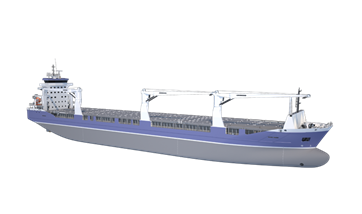 Damen Combi Freighter 19000 has also been optimised for a range of drafts and deep sea performance