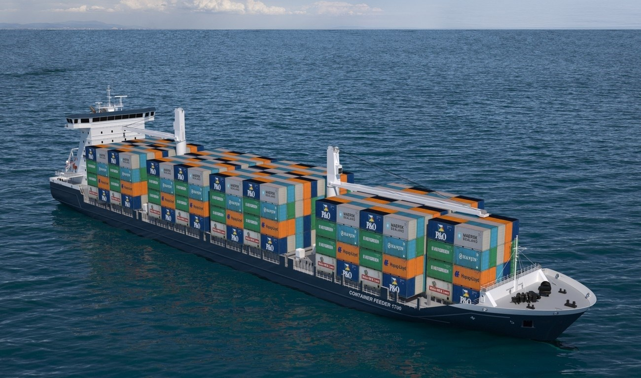 Container feeder 1700 takes all container sizes