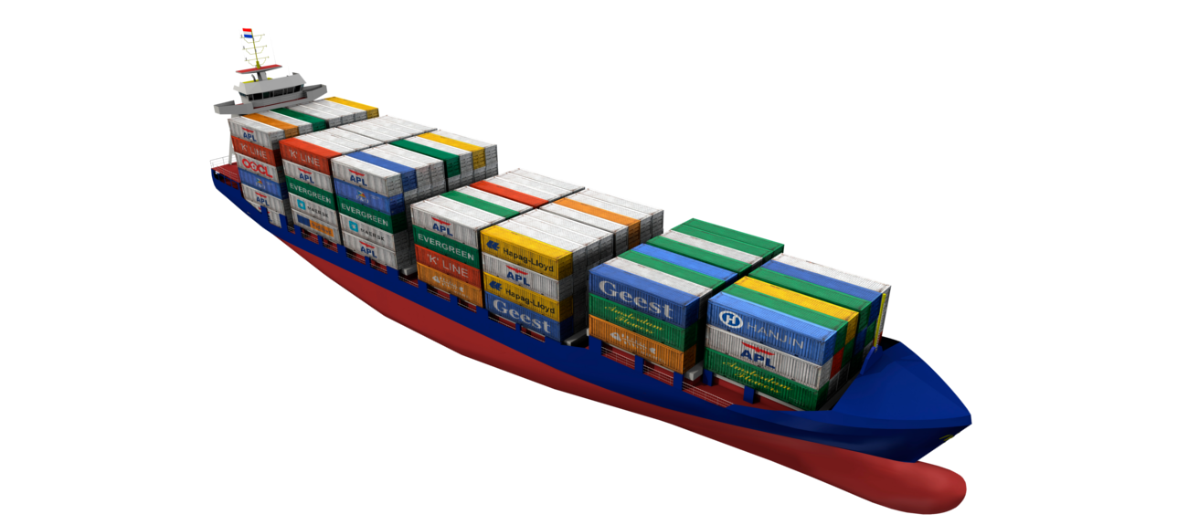 With movable guides, a change in container size can be rapidly handled on board
