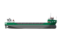 As an open top carrier the vessel can be used to load exceptional cargoes for the offshore industry, in terms of both size and weight