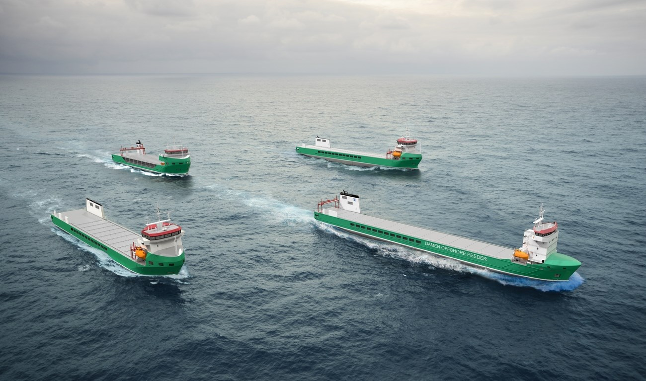 The Damen Offshore Feeder (DOF) offers the unique possibility of combining offshore logistics with the shipping market to ensure high flexibility for year-round utilisation