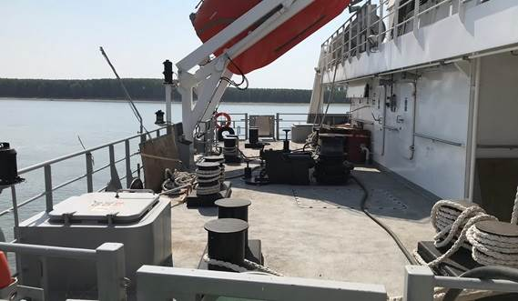 Aft ship deck view | Damen Tanker 8000 Shallow draft