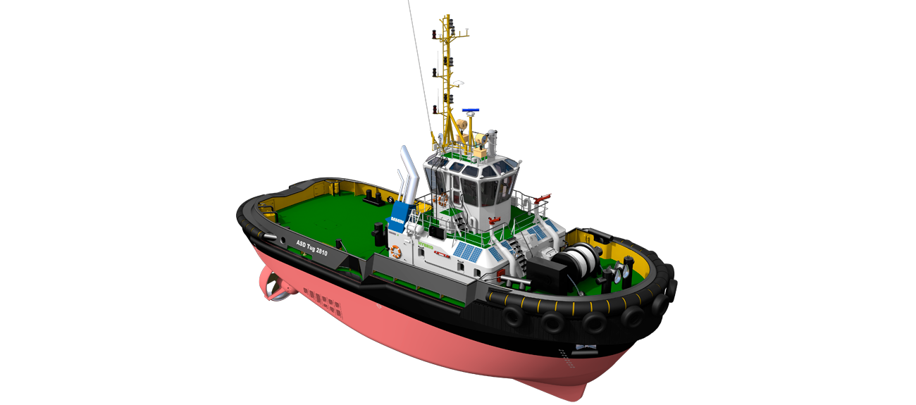 The vessel is provided with a propulsion system that can operate diesel-direct, diesel-electric or fully-electric.