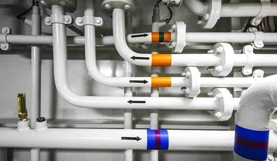 All piping systems are of the highest quality and are fitted carefully to prevent vibrations.