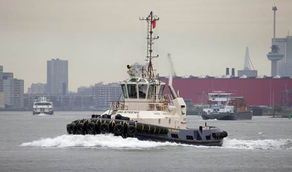 Clyde Marine Services has taken delivery of its first Damen ASD Tug.