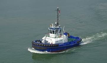 Damen Shipyards Group has delivered an ASD 2310 Tug to Foyle Port