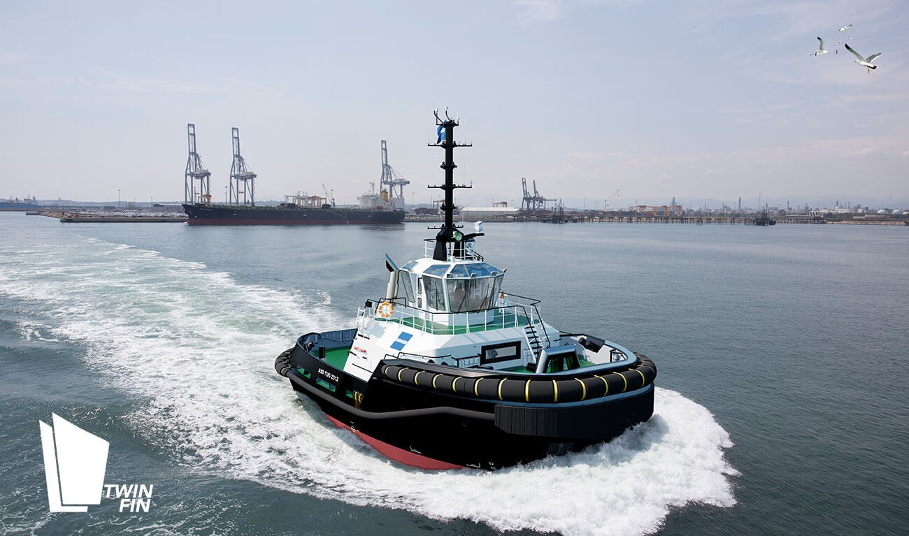 Asd Sa damen azimuth tug boat 2312 of compact and multi-purpose design