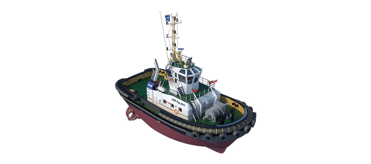 She is a heavily built vessel with rigid foundations, extra plate thickness, extra brackets and extra fendering.