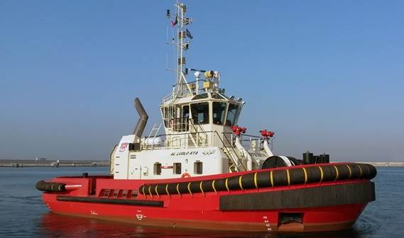 Sharjah Ports Authority, has taken delivery of a Damen ASD Tug 2411, named Al Luolo' Aya.