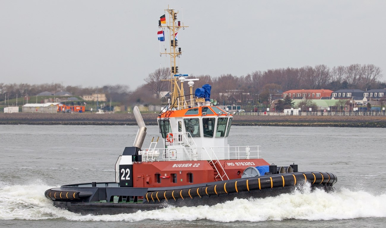 "Bugsier Reederei has taken delivery of an ASD Tug 2411, named ""Bugsier 22""."