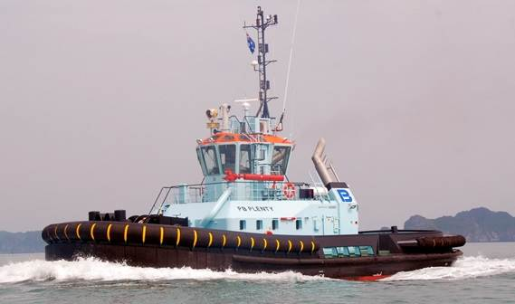 Damen Shipyards Gorinchem delivered two new ASD 2411s to owner PB Towage Australia.