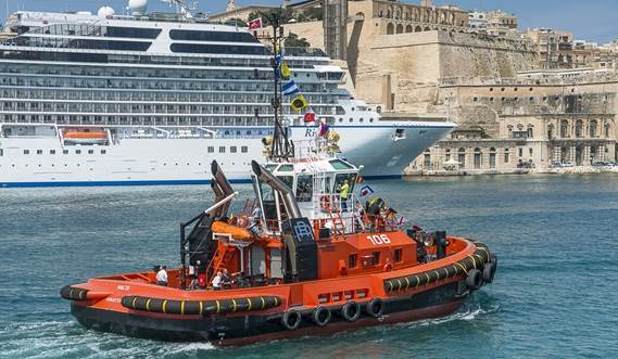 Rimorchiatori Riuniti S.p.A. of Genoa (Italy) has taken delivery of a Damen ASD Tug 2411