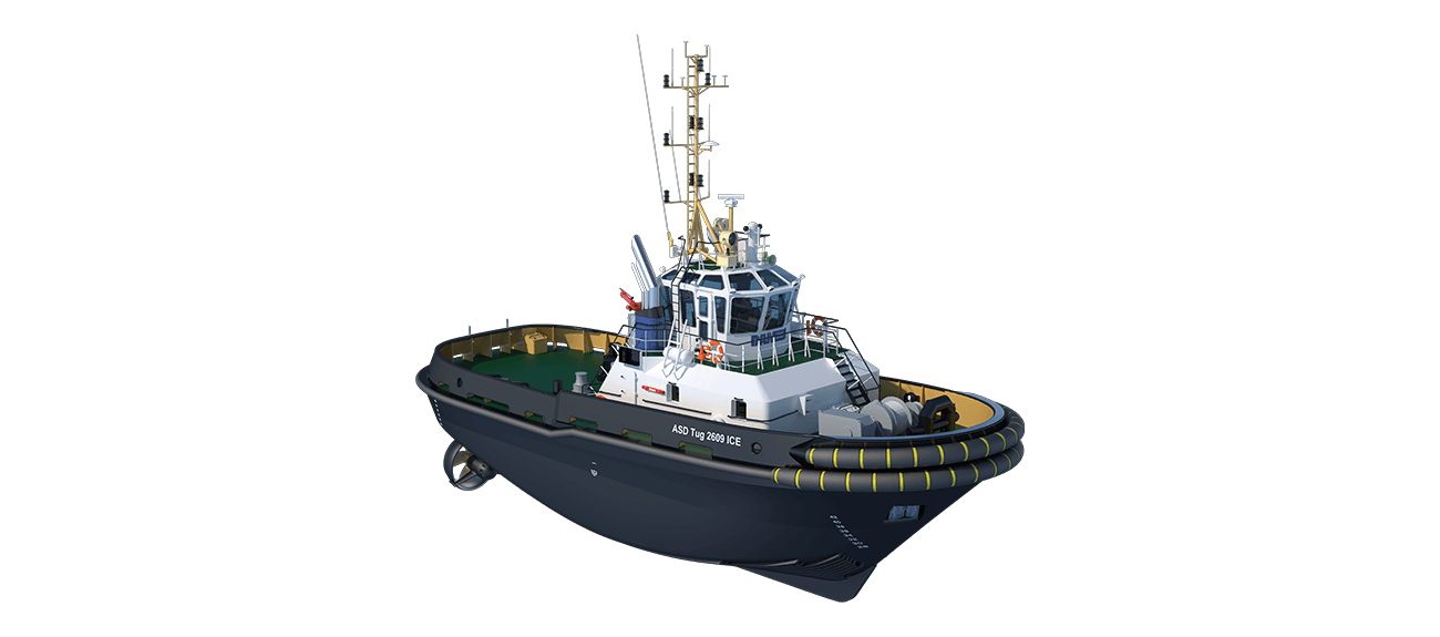 ASD tug 2609 has excellent seakeeping behaviour, superb manoeuvrability and outstanding towing characteristics.
