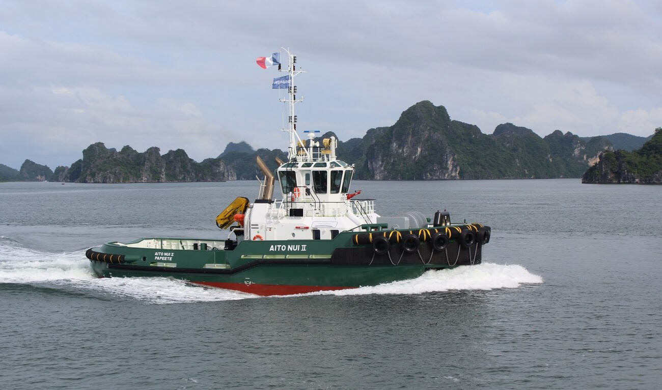 Damen Shipyards recently delivered a new ASD Tug 2810 to its owner Port Autonome de Papeete.