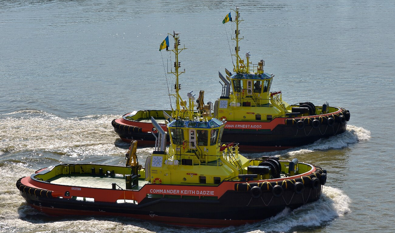 ASD Tug 2810 'Commander Keith Dadzie' and 'John Ernest Aidoo'