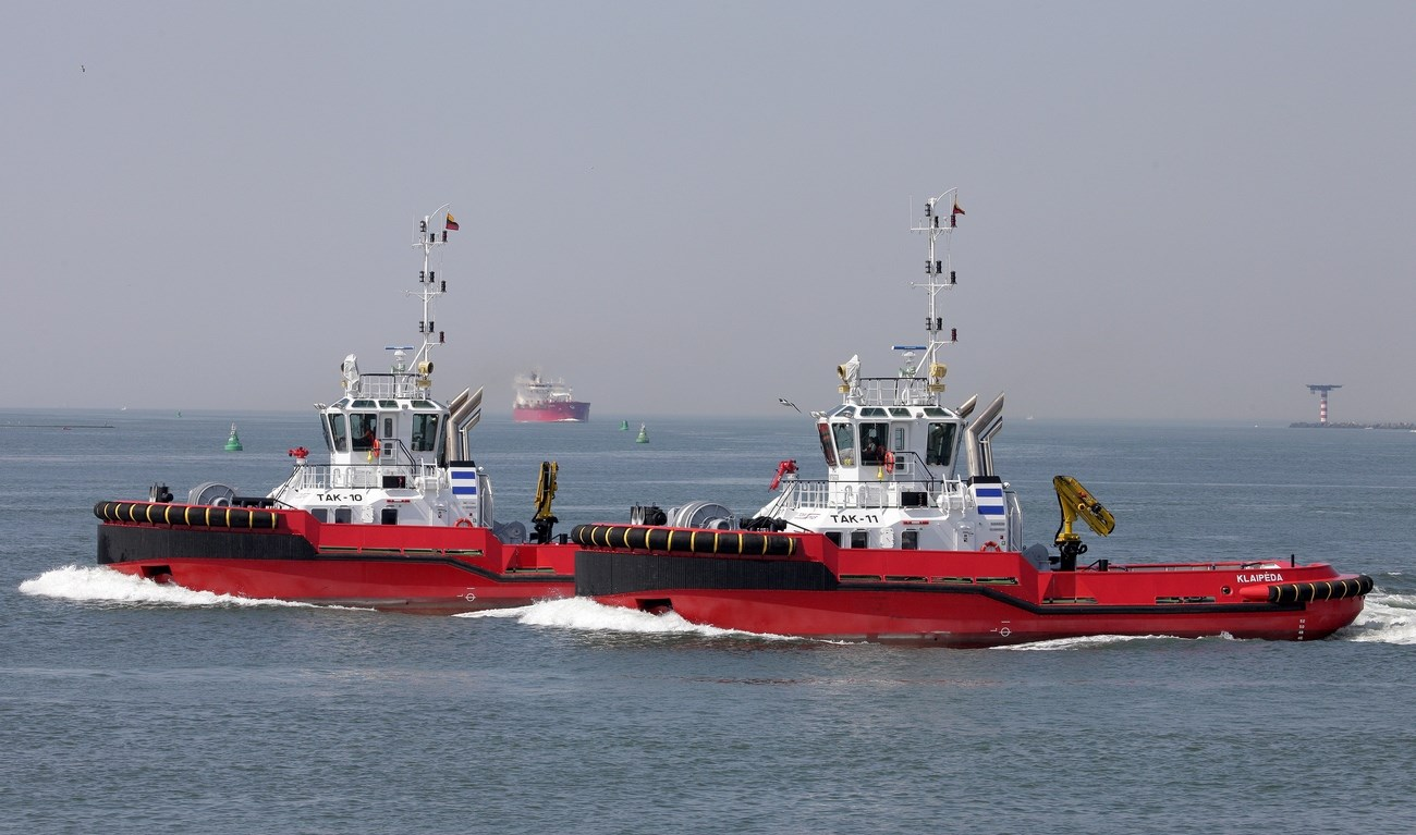 Towage operator Towmar Baltic UAB recently renewed its fleet with two new Damen ASD Tugs 2810.