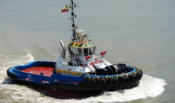 Just two months after the contract signing, an ASD 2810 Tug was delivered to Intertug in August 2010.