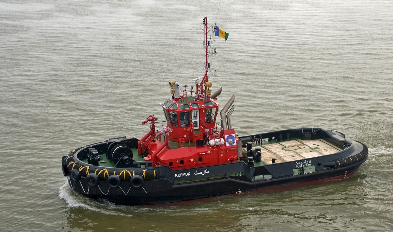 'Kurmuk', a Damen Azimuth Stern Drive 2810, was successfully delivered to Sea Ports Corporation in Port Sudan on February 9 2011.