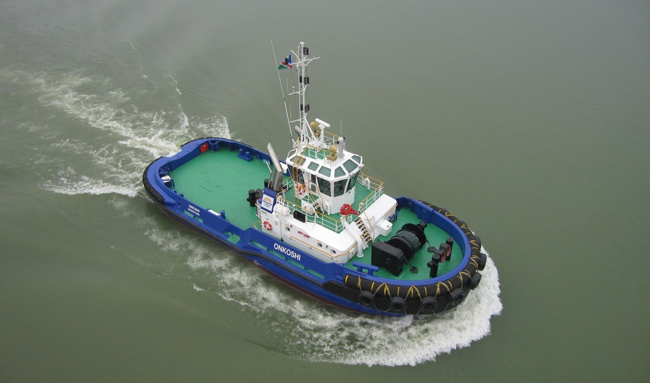 "Damen ASD 2810 Tug ""Onkoshi"" was delivered to her owner in August 2012."