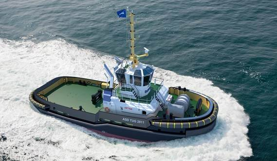 Damen ASD Tug 2811 has excellent seakeeping behaviour, superb manoeuvrability and outstanding towing characteristics