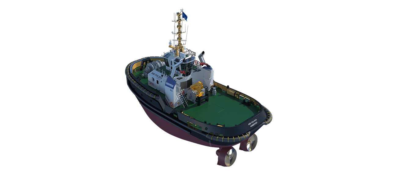 ASD Tug 2813 perspective aft PS