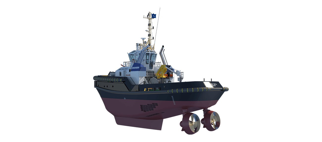 Damen Stern Drive Tugboat 2913 has a rigid foundations, extra plate thickness, extra brackets and extra fendering.