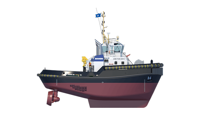 Safe, reliable and innovative Damen Stern Drive Workboat 2913