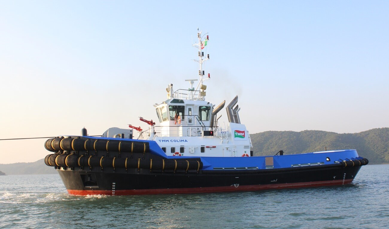 Leading Mexican maritime operator, Grupo TMM, took delivery of a 70 tonne bollard pull ASD Tug 3212, named TMM COLIMA.