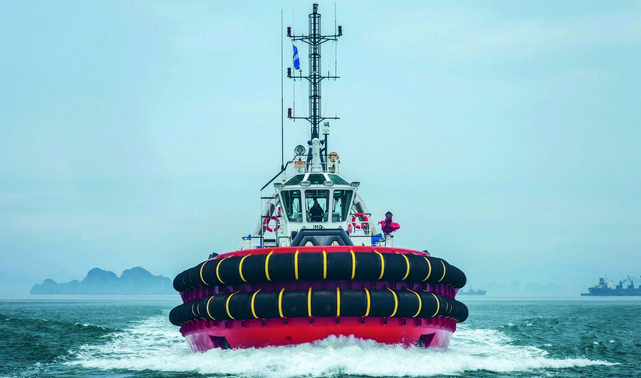 powerful, reliable asd tug 3212 of 80 t bollard pull  the asd tug and its crew make an excellent team, benefiting from the safe working