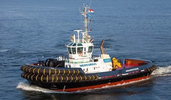 Iskes Towing & Salvage has taken delivery of a Damen ASD 3212 tug named Mercurius.
