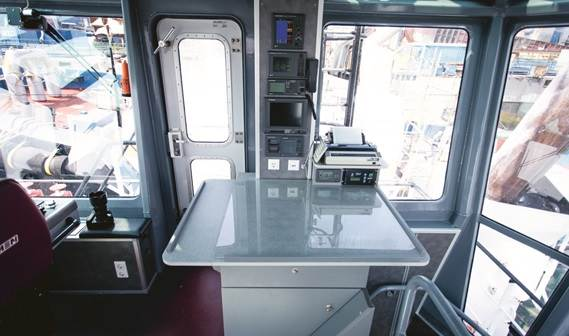 Damen has designed a very modern, compact deckhouse with all-round visibility and user-friendly layout.