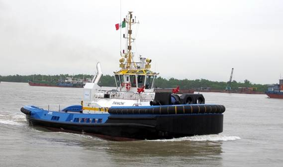 On 30 November 2011, Damen delivered the ASD Tug 3213 'Tanok' to Intertug S.A., Colombia.