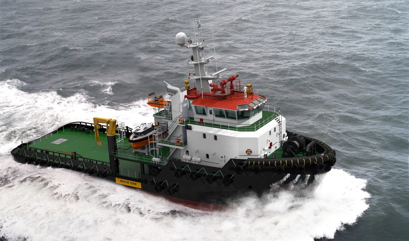 This ASD Tug 5114 has excellent seakeeping behaviour, superb manoeuvrability and outstanding towing characteristics.
