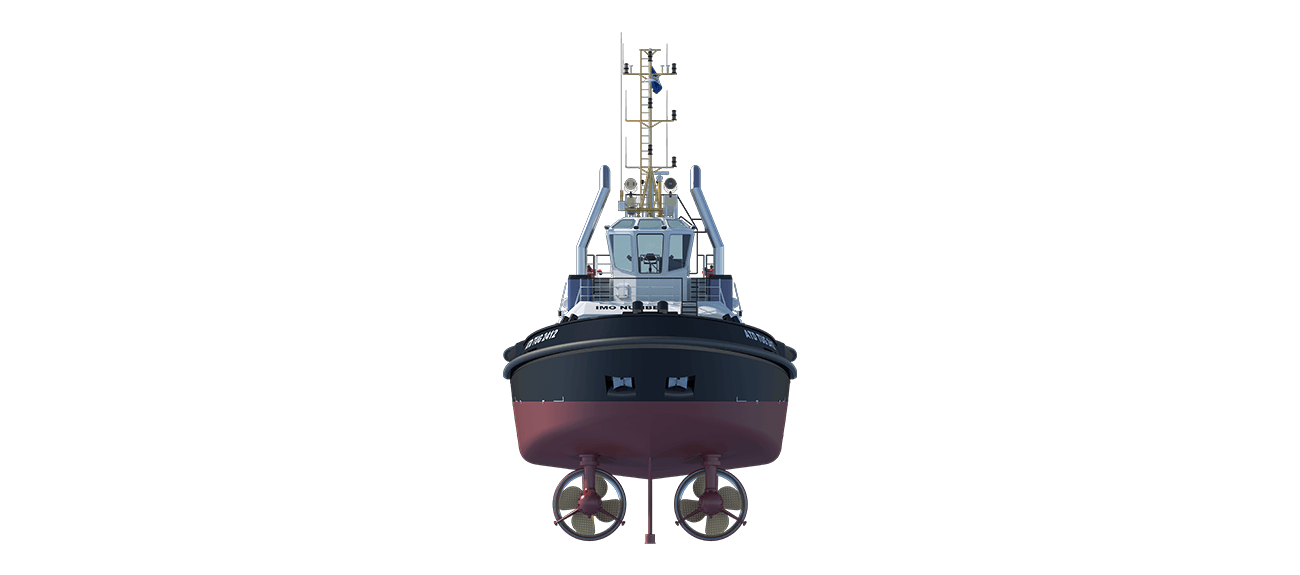The Harbour Workboat 2412 design is powerful yet extremely compact.