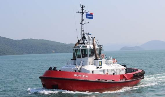 Kotug Smit Towage has taken the new ATD Tug 2412, named Buffalo into service for its European harbour towage activities.