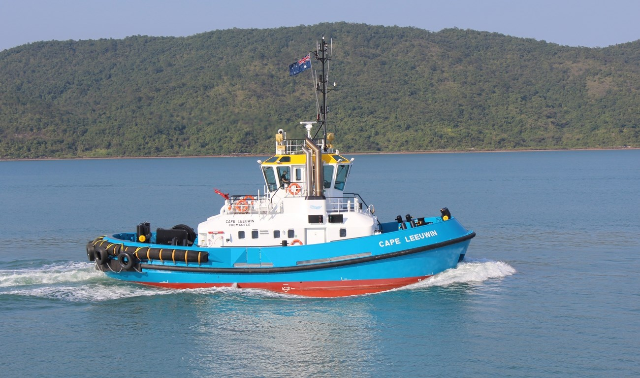"Mackenzie Marine & Towage of Esperance has taken delivery of their second Damen ATD Tug 2412, ""Cape Leeuwin"""