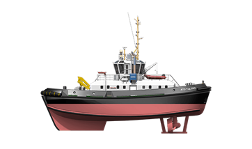 Azimuth Tractor Drive Tug 2909 for pull & push operations.