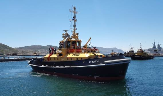 South African Navy took delivery of a second South African-built Damen ATD Tug 2909 at the naval base in Simon's Town
