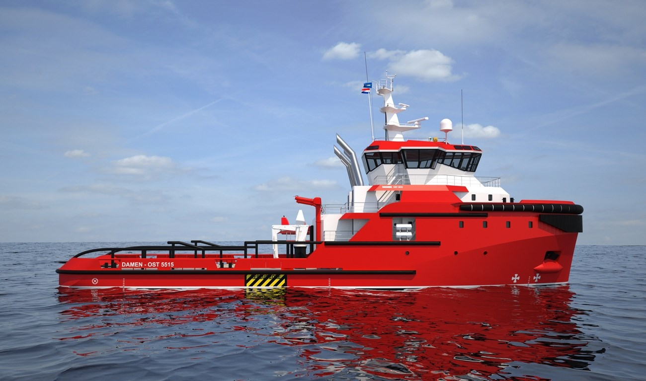 Vessels from the Offshore Support Tug series provide anchor handling-, towing-, hose handling-, fire-fighting-, supply-, safety standby- and oil recovery services