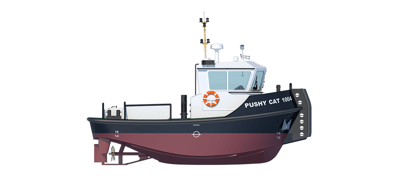 Damen Pushy Cat 1004 sideview
