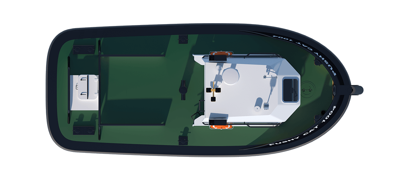 The state-of-the-art design incorporates the latest hull and skeg designs and the most recent developments in fender, fairlead and winch design.